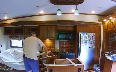 Camper Remodel – Replace Cabinets & Start Island – Part 5