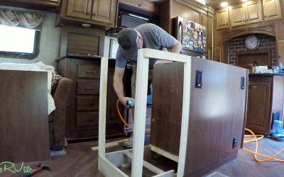 Camper Remodel – Rebuilding Kitchen Island – Part 6
