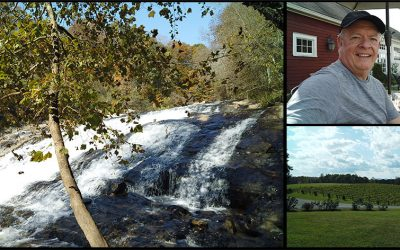 Elkin NC – Trails, Spooky Forest, Creeks, Waterfalls and Vineyards of Course