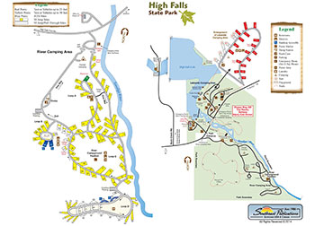 High Falls State Park Map