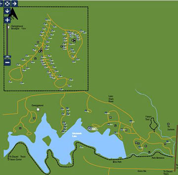 Indian Springs Campground Map